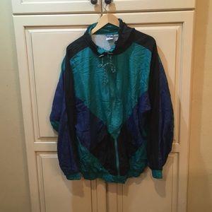 Vintage 80s 90s windbreaker jacket L